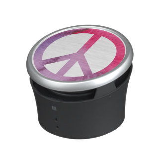 Watercolor Peace Sign Bluetooth Speaker