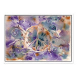 Watercolor Peace Sign Large Business Cards (Pack Of 100)