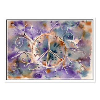 Watercolor Peace Sign Pack Of Chubby Business Cards