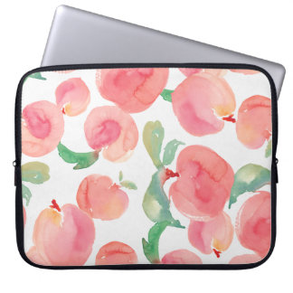 Watercolor Peaches Laptop Computer Sleeves