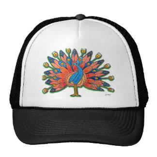 Watercolor Peacock Trucker Hat