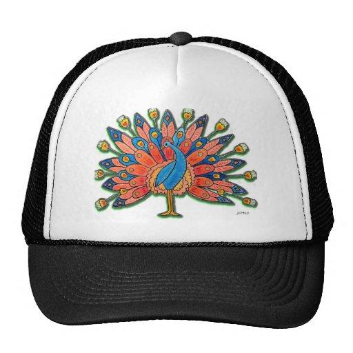 Watercolor Peacock Hat