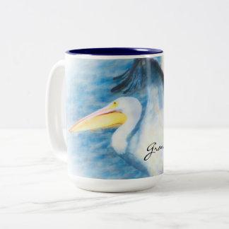 watercolor pelican  mug 17
