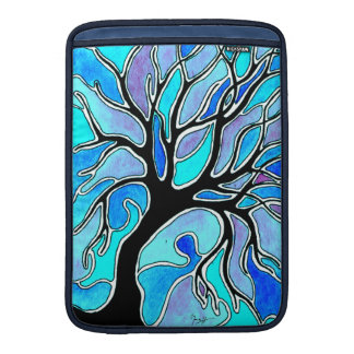 Watercolor Pen and Ink Tree - Blue MacBook Sleeve