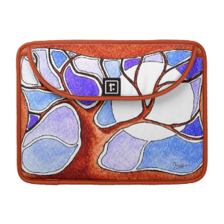 Watercolor Pen and Ink Tree - Blue Sleeve For MacBook Pro