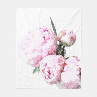 Watercolor Peony Blanket