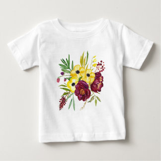 Watercolor Peony Bouquet Baby T-Shirt