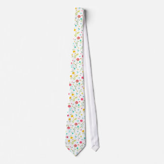 Watercolor Peony Paint Splatter Pattern Tie