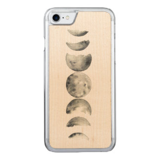 Watercolor Phases of the Moon Carved iPhone 8/7 Case