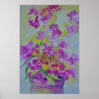 watercolor phlox print