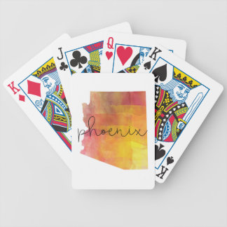 Watercolor Phoenix Arizona Bicycle Playing Cards