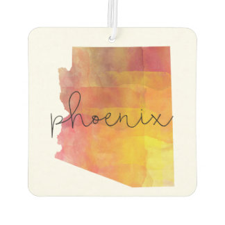 Watercolor Phoenix Arizona Car Air Freshener