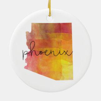 Watercolor Phoenix Arizona Christmas Ornament