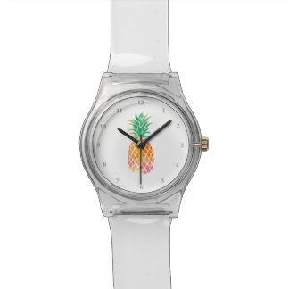 watercolor pineapple fruit art watch
