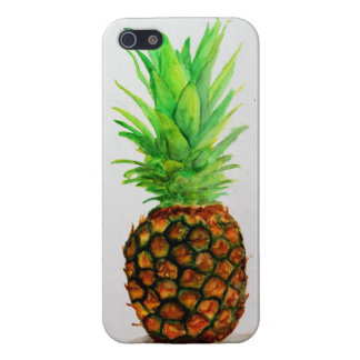 Watercolor Pineapple iPhone 5 Gloss Case