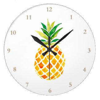 watercolor pineapple wallclock