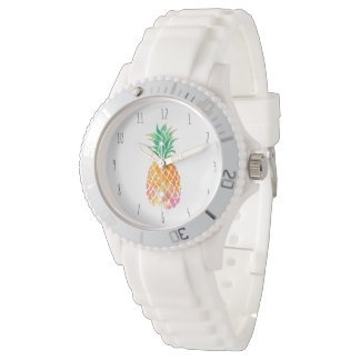 watercolor pineapple watch