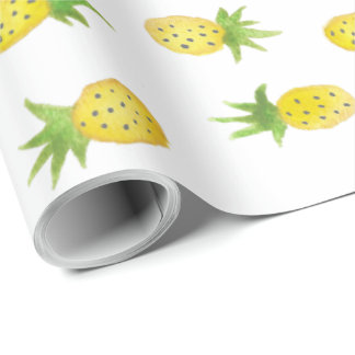 Watercolor Pineapple Wrapping Paper