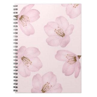 Watercolor Pink Cherry Blossom Sakura Notebook