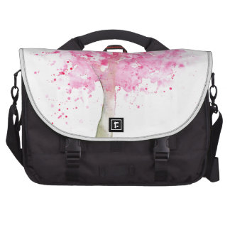 Watercolor Pink Cherry Tree Commuter Bags