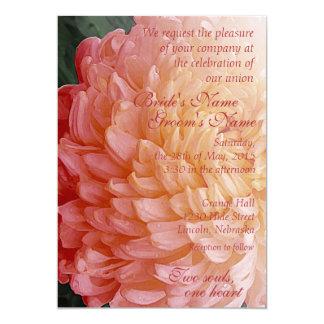 Watercolor Pink Chrysanthemum Wedding Invite