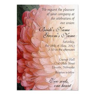Watercolor Pink Chrysanthemum Wedding Invite 3