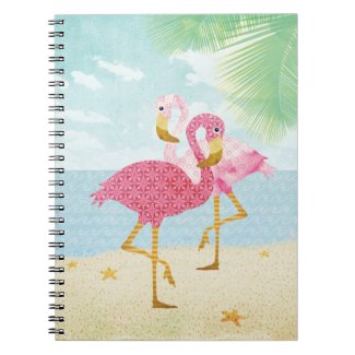 Watercolor Flamingos Notebook