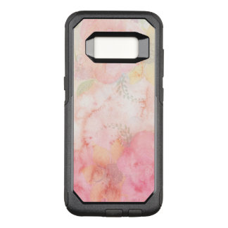 Watercolor Pink Floral Background OtterBox Commuter Samsung Galaxy S8 Case