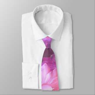watercolor pink floral. Vintage Tie