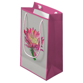 Watercolor Pink Flower Gift Bag