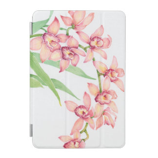 Watercolor Pink Flowers iPad Mini Cover