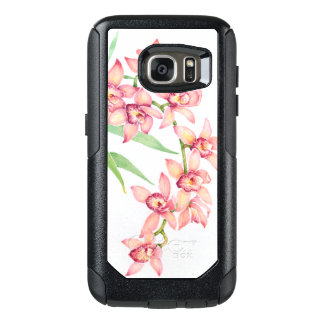 Watercolor Pink Flowers OtterBox Samsung Galaxy S7 Case