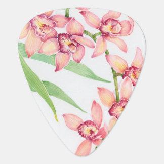 Watercolor Pink Flowers Plectrum