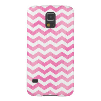 Watercolor Pink Girly Chevron Galaxy S5 Case