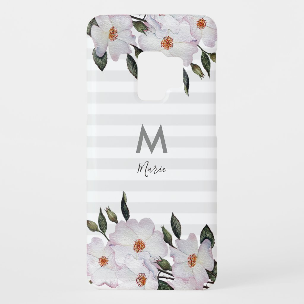 Watercolor Pink Roses Ballerina Floral Art Case-Mate Samsung Galaxy S9 Case