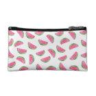 Watercolor pink watermelon pattern cosmetics case