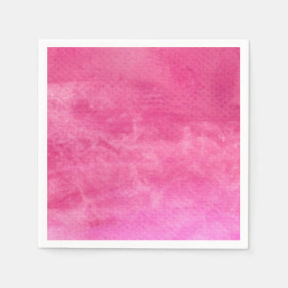Watercolor Pinks  - All Options Paper Napkin