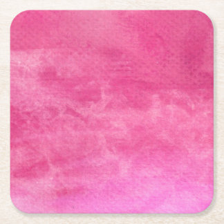 Watercolor Pinks  - All Options Square Paper Coaster