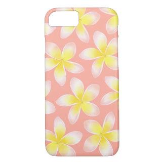 Watercolor Plumeria Tropical Peach Phone Case