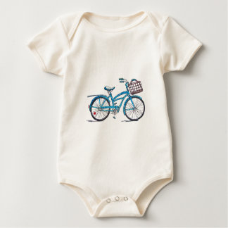 Watercolor Polka Dot Bicycle Baby Bodysuit