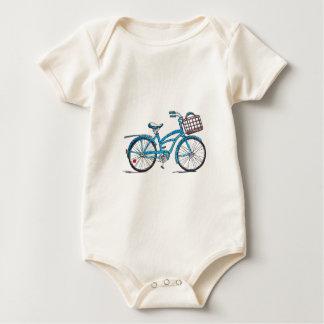 Watercolor Polka Dot Bicycle Creeper