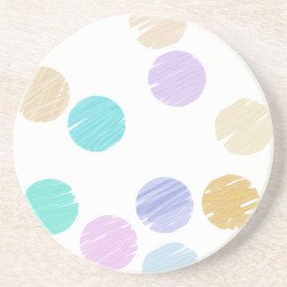 Watercolor Polka Dots Beverage Coaster