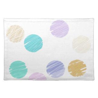 Watercolor Polka Dots Cloth Place Mat