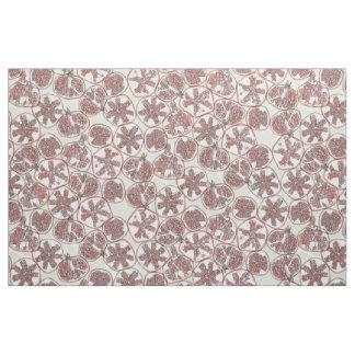 watercolor pomegranates fabric
