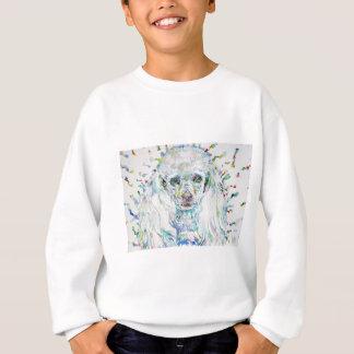 watercolor POODLE Sweatshirt