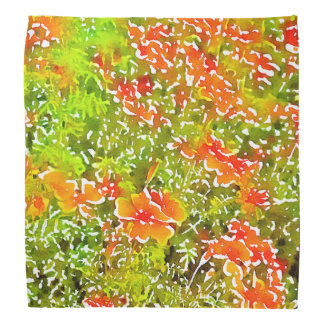 Watercolor Poppies Bandana