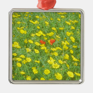 Watercolor poppies christmas ornament