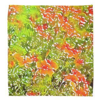 Watercolor Poppies Head Kerchiefs