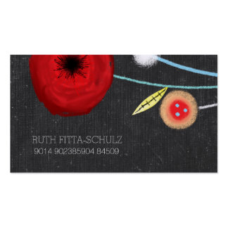 Watercolor Poppies Pack Of Standard Business Cards