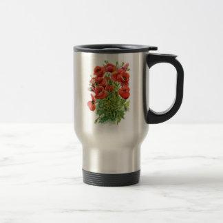 Watercolor Poppies Travel Mug
